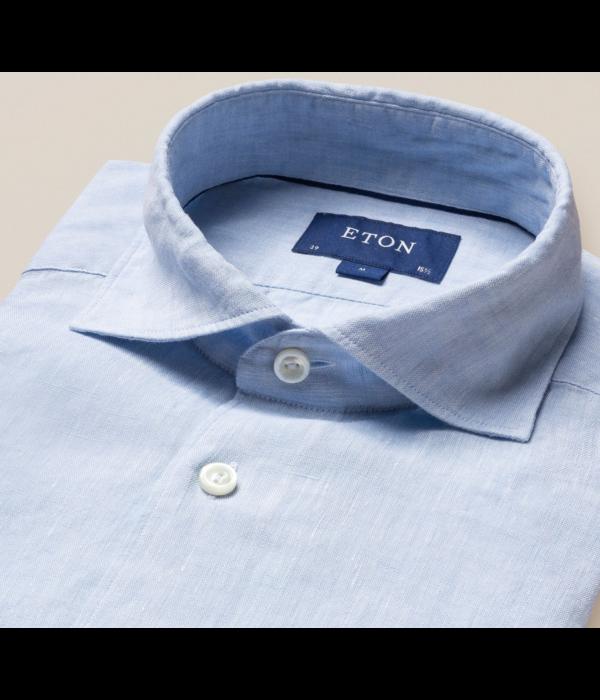 Eton linnen overhemd l. blauw