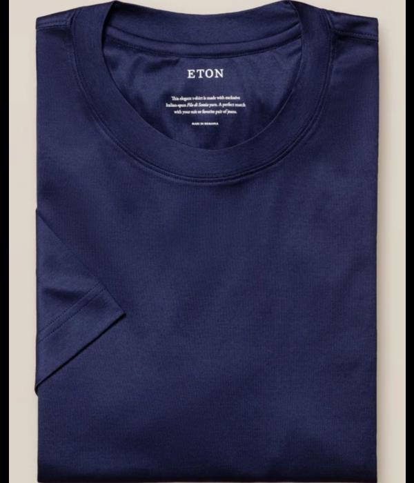 Eton filo T-shirt d. blauw