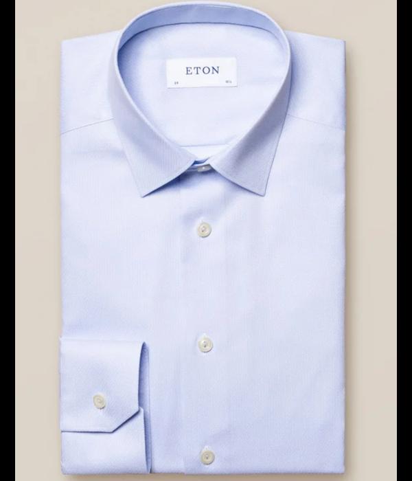 Eton eton dress-shirt l. blauw slimfit
