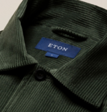 Eton corduro over-shirt d. groen