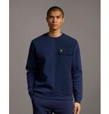 Lyle & Scott pocket sweater d. blauw