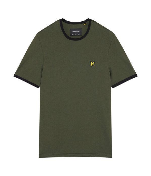 Lyle & Scott t-shirt ringer d. groen