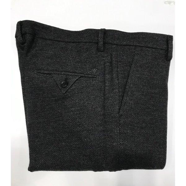 stretch visgraat chino