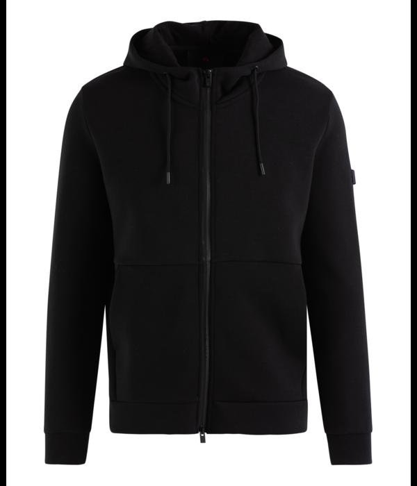 Peuterey vest hoodie Phad kil zwart