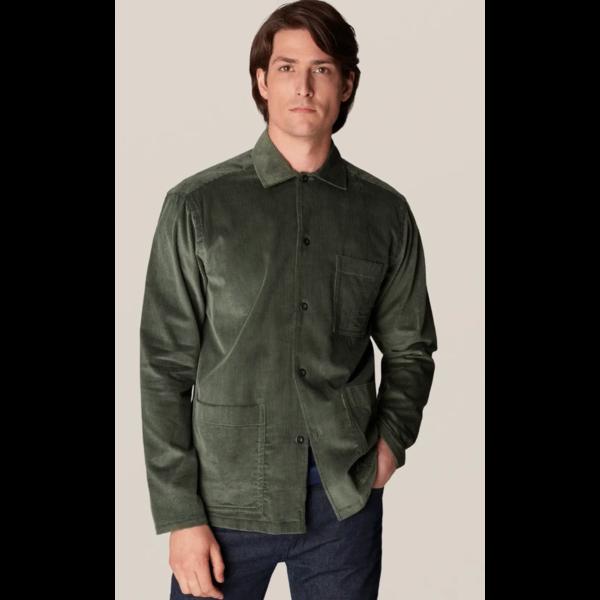 corduroy over-shirt d. groen