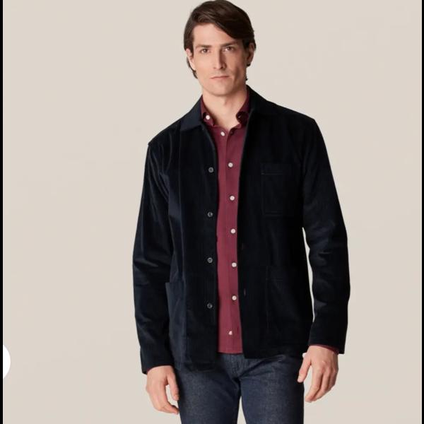 corduroy over-shirt d. blauw