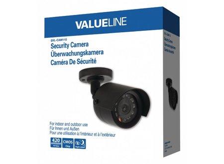 Valueline Bullet Beveiligingscamera 420 TVL IP44 Zwart