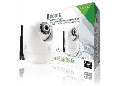 Konig HD Pan-Tilt IP-Camera Binnen 720P Wit