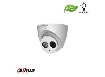Dahua Dahua 2MP STARLIGHT 1080P IR Dome camera met MIC. 2.8MM ePOE