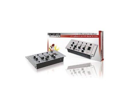 König DJ-Mixer 3-Kanaals