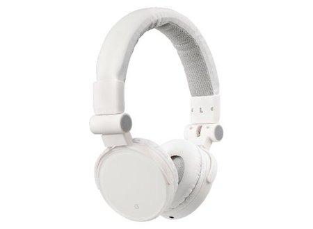 König Headset On-Ear 3.5 mm Ingebouwde Microfoon Wit