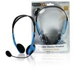 BasicXL Headset On-Ear 2x 3.5 mm Ingebouwde Microfoon 2.0 m Blauw