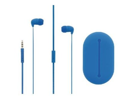 Sweex Headset Platte Kabel In-Ear 3.5 mm Bedraad Ingebouwde Microfoon 120 cm Blauw