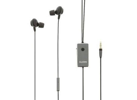 Sweex Headset ANC (Active Noise Cancelling) In-Ear 3.5 mm Bedraad Ingebouwde Microfoon 1.2 m Antraciet/Zwart