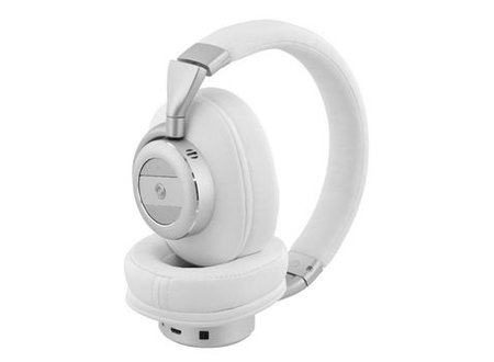 Sweex Headset Bluetooth / ANC (Active Noise Cancelling) Over-Ear Ingebouwde Microfoon 1.20 m Wit/Zilver