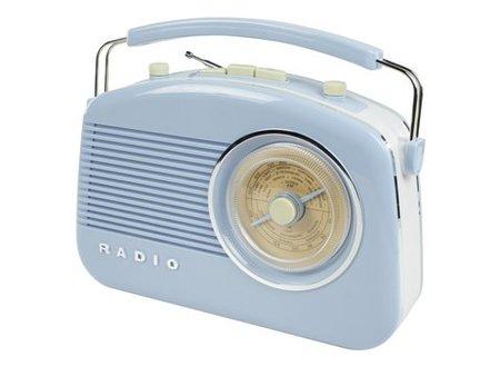 König Draagbare FM-Radio FM / AM Blauw