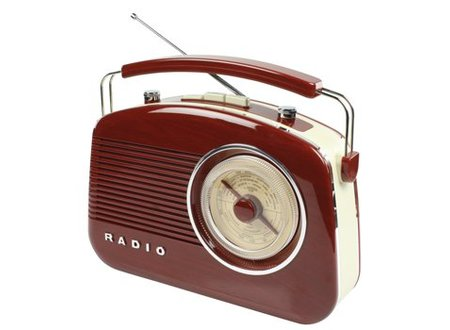 König Draagbare FM-Radio FM / AM Bruin