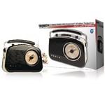 König Draagbare Bluetooth Radio AM / FM AUX Zwart