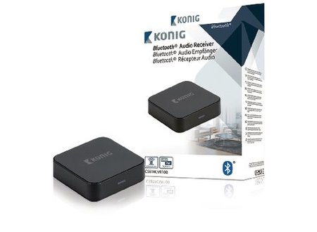 König Audio-Ontvanger Bluetooth 3.5 mm Zwart