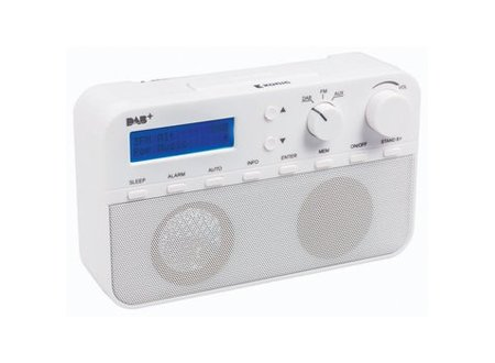 König Draagbare DAB+ Radio FM / DAB / DAB+ AUX Wit