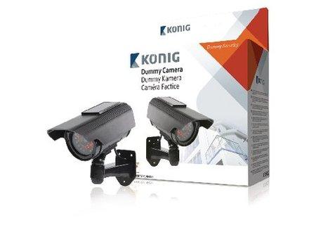 König Bullet Dummy Camera IP44 Zwart
