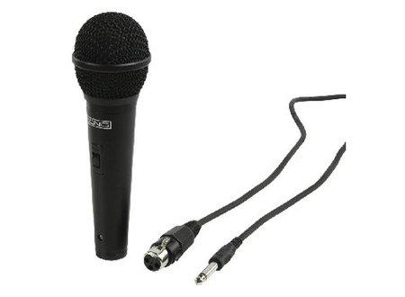 König Bedrade Microfoon 6.35 mm -72 dB Zwart