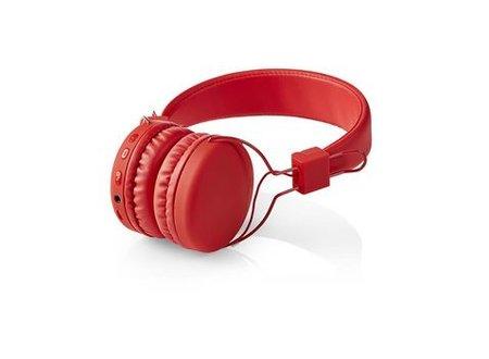 Nedis Draadloze hoofdtelefoon | Bluetooth® | On-ear | Opvouwbaar | Rood