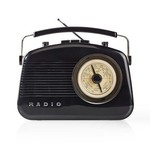 Nedis FM-radio | 5,4 W | Bluetooth® | Draaggreep | Zwart