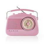 Nedis FM-radio   4,5 W   Draaggreep     Roze