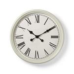 Nedis Ronde wandklok | Diameter 50 cm | Antieken stijl | Wit