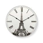 Nedis Ronde wandklok | Diameter 30 cm | Eiffeltoren-afbeelding