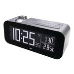 Balance Zendergestuurde Wekker LCD Zilver/Zwart