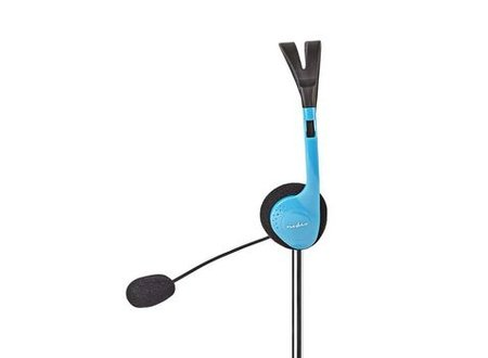 Nedis PC-Headset | On-Ear | 2x 3,5 mm Connectoren | 2,0 m | Blauw