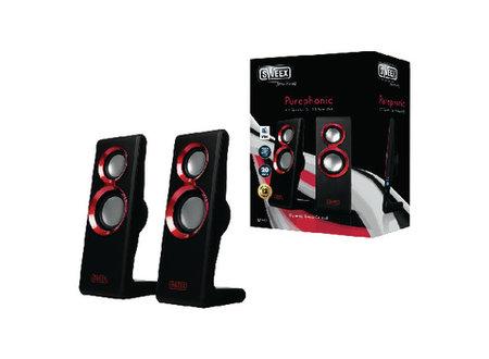 Sweex Speaker 2.0 Bedraad USB 2x 1 W Rood