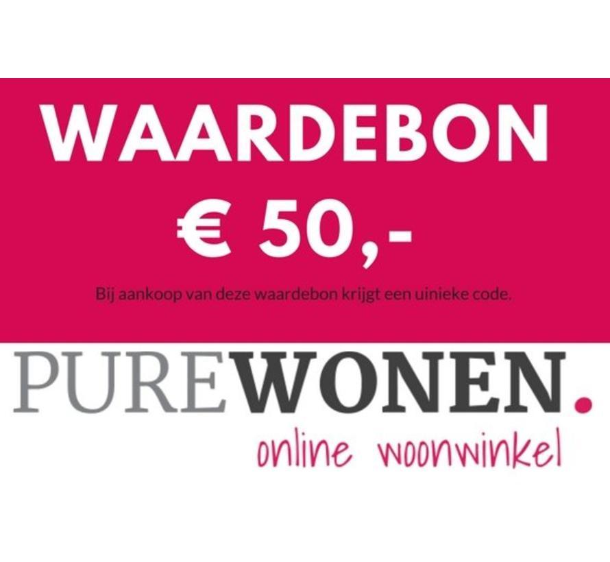 Vijftig euro waardebon