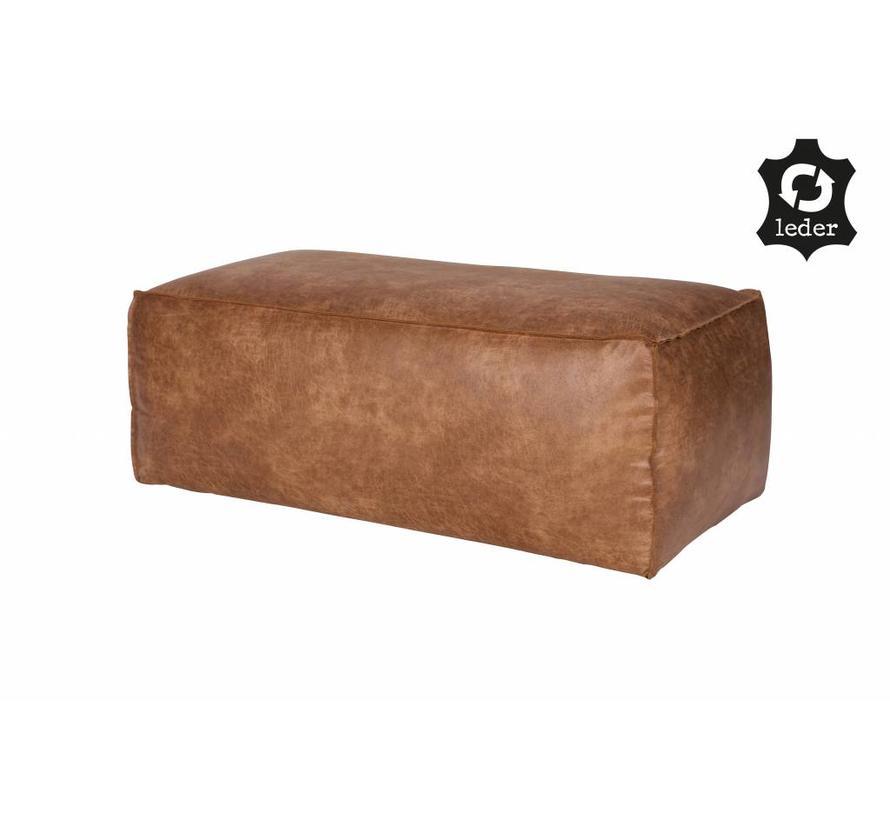 BePureHome Rodeo Poef 43x120x60 Cognac