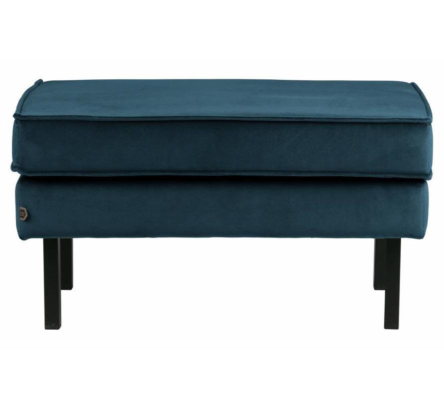 Rodeo Hocker Op Poten Velvet Blue