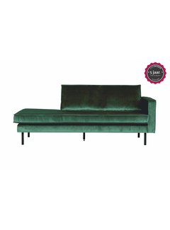BePureHome Rodeo Daybed Right Velvet Green Forest