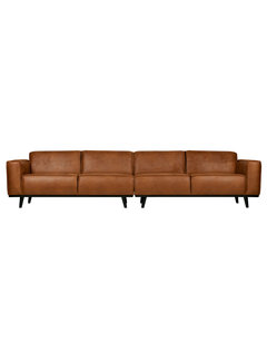 BePureHome Statement Xl 4-zits Bank 372 Cm Eco Leer Cognac