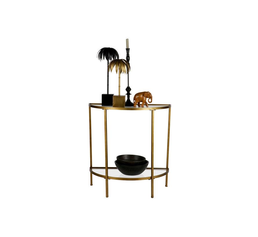 Goddess Sidetable Antique Brass