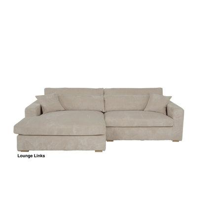Loungebanken met extra zit diepte en een chaiselonge + 5 jaar lang All in House Garantie.