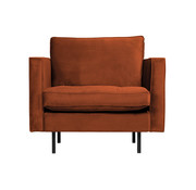 BePureHome Rodeo Classic Fauteuil Velvet Roest