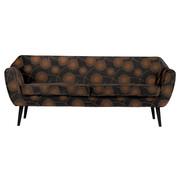 Woood  Rocco Bloom Sofa 187 Cm Fluweel Zwart