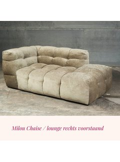 Dutch Sofa Lounge deel / chaise Milou Adore