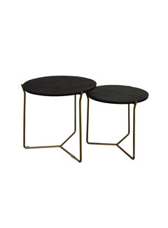 Brix Brix Mason Black/Brass  Set of 2