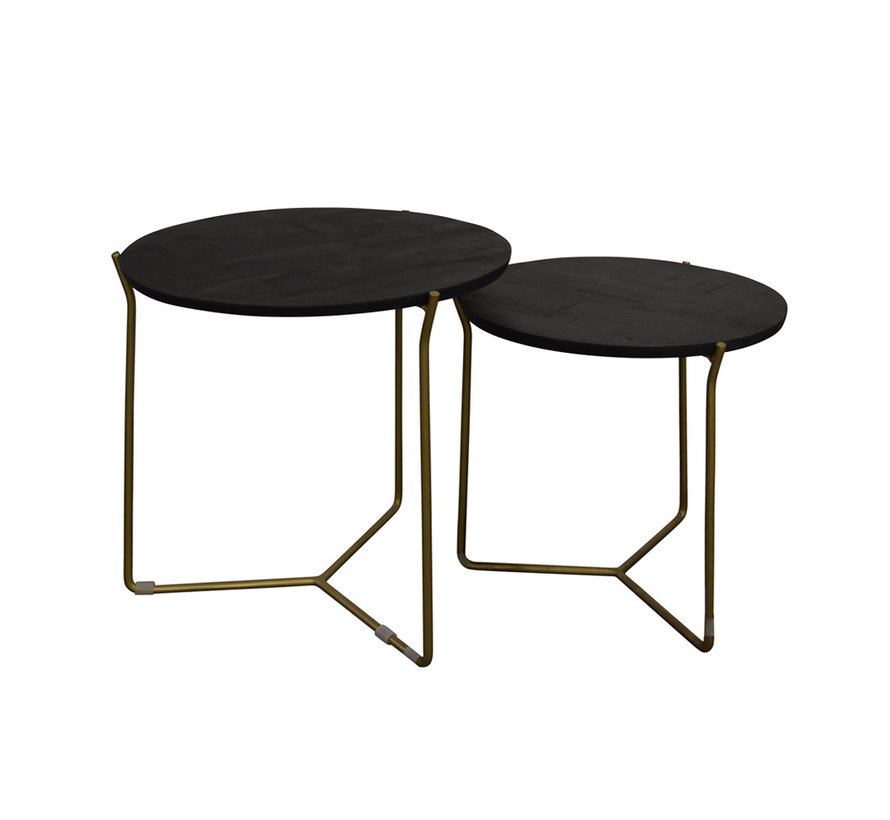 Brix Mason Black/Brass  Set of 2
