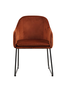 Livingfurn Chair - Benthe Rust Copper Velvet