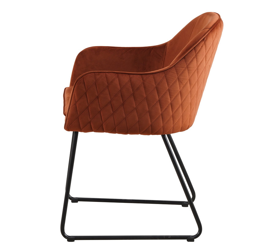 Chair - Benthe Rust Copper Velvet