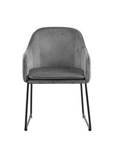 Livingfurn Chair - Benthe Grey Velvet