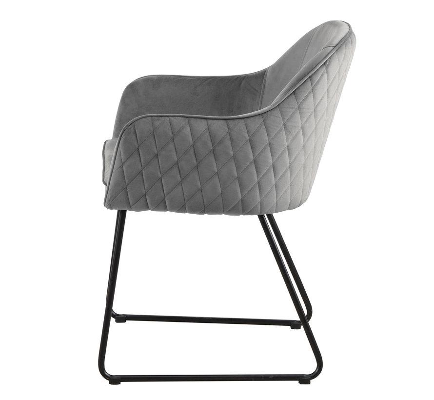 Chair - Benthe Grey Velvet